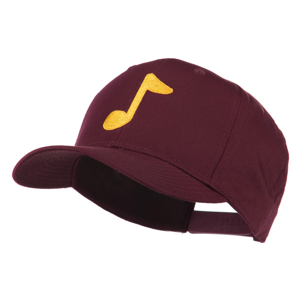 Eighth Note Music Symbol Embroidered Cap - Maroon - Hats and Caps Online Shop - Hip Head Gear