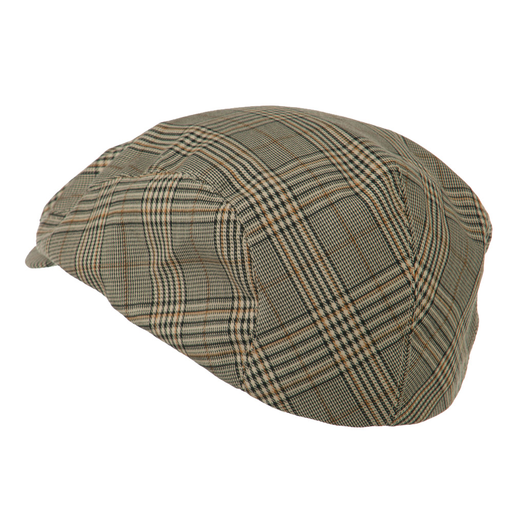 Elastic Plaid Fashion Ivy Cap - Khaki - Hats and Caps Online Shop - Hip Head Gear