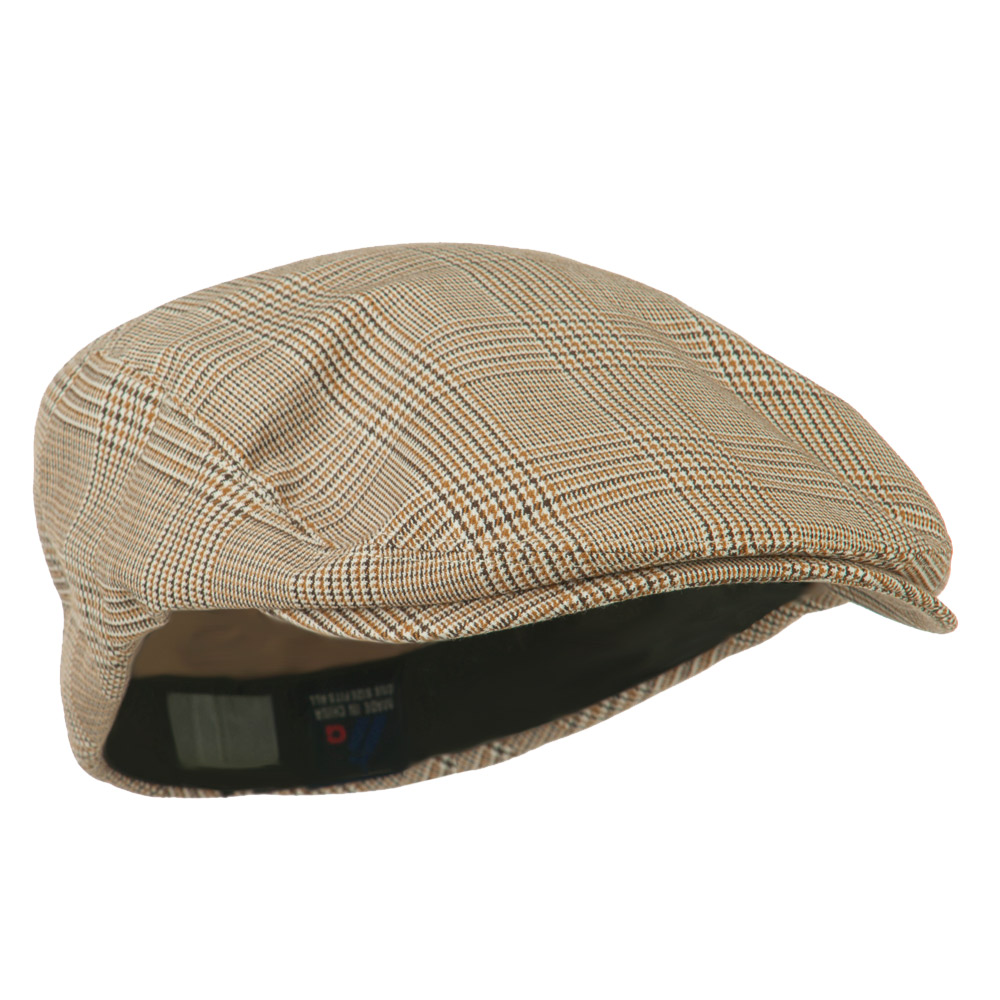 Elastic Plaid Fashion Ivy Cap - Beige - Hats and Caps Online Shop - Hip Head Gear