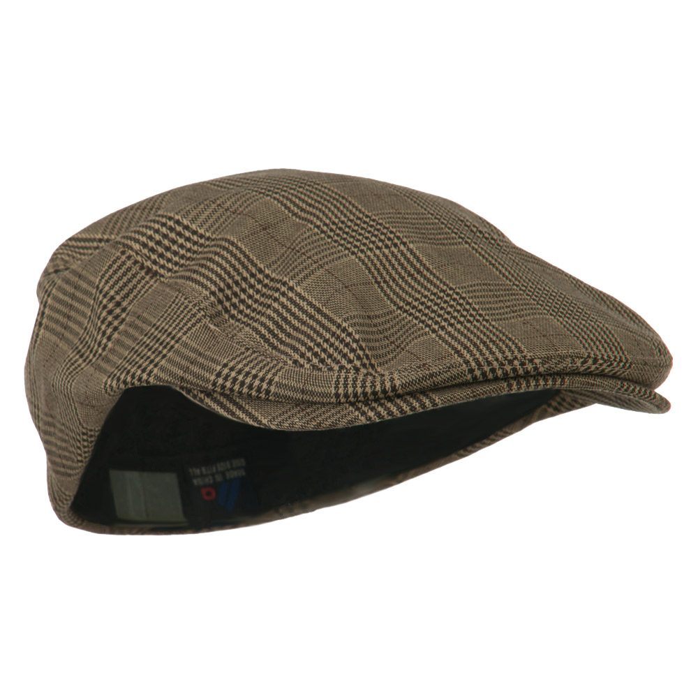 Elastic Plaid Fashion Ivy Cap - Brown - Hats and Caps Online Shop - Hip Head Gear