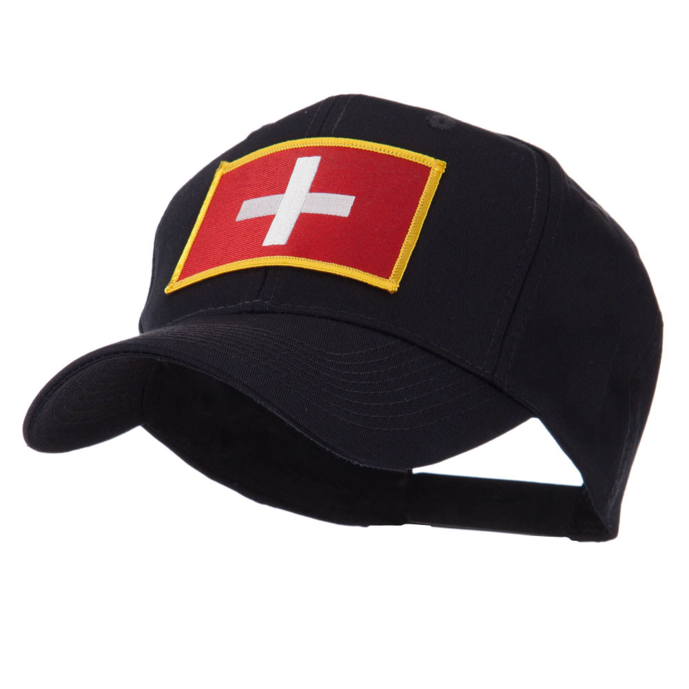 Europe Flag Embroidered Patch Cap - Switzerland - Hats and Caps Online Shop - Hip Head Gear