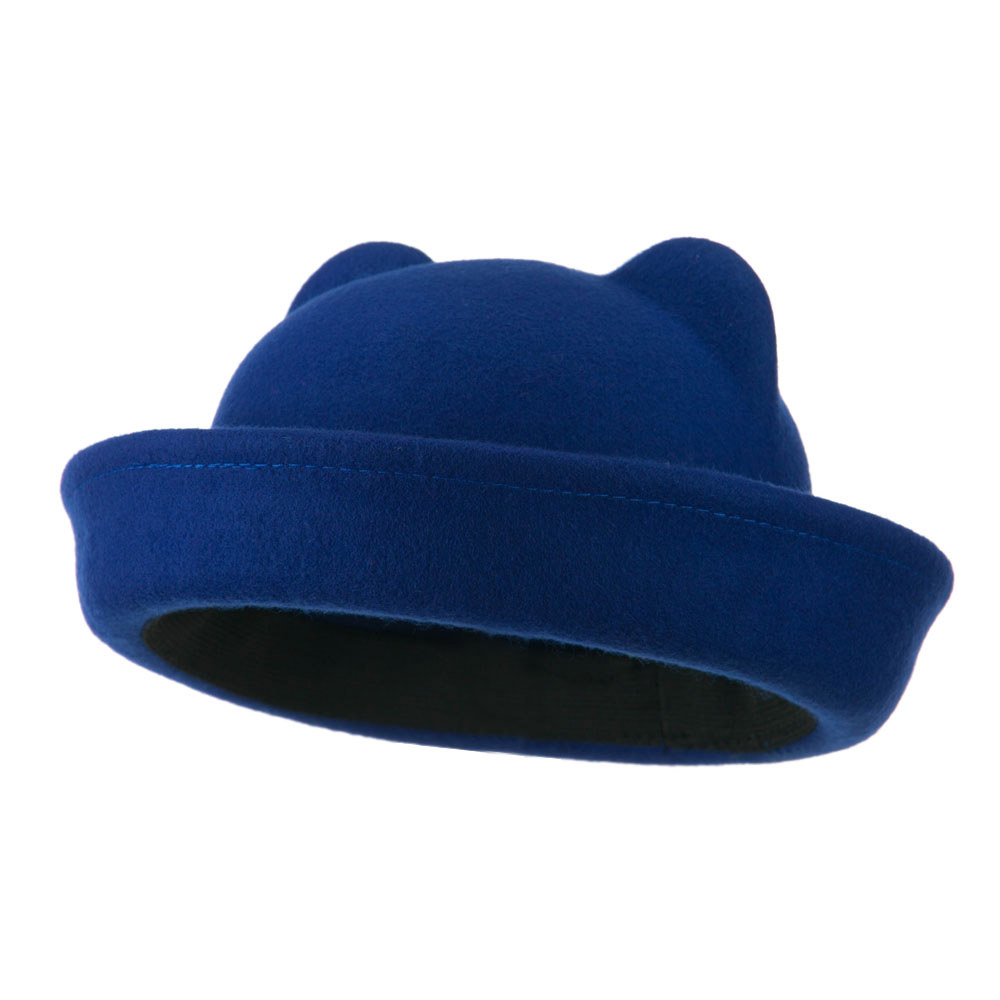 Girl's Ear Crown Felt Fedora - Blue - Hats and Caps Online Shop - Hip Head Gear