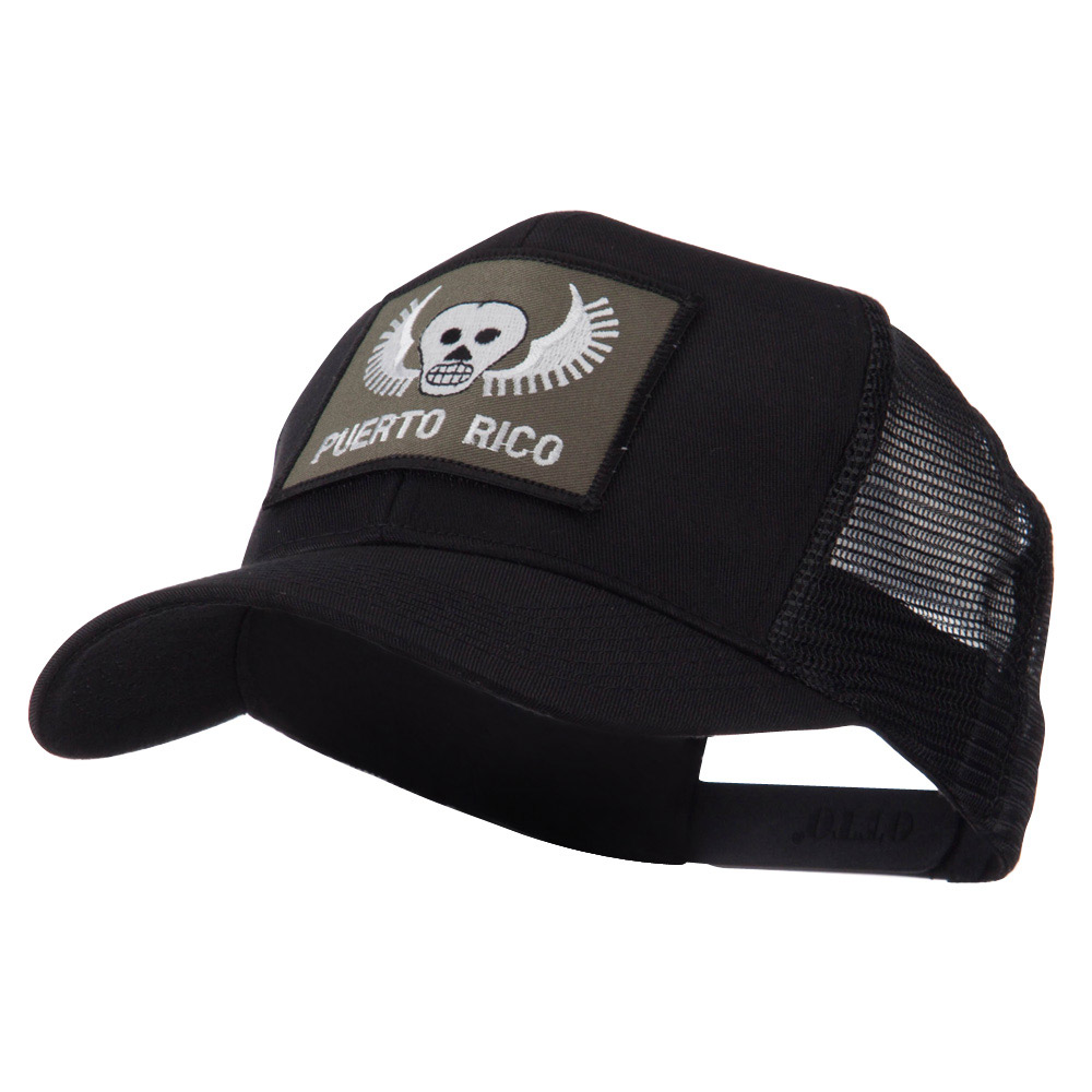 ETC Embroidered Military Patched Mesh Cap - Skull - Hats and Caps Online Shop - Hip Head Gear