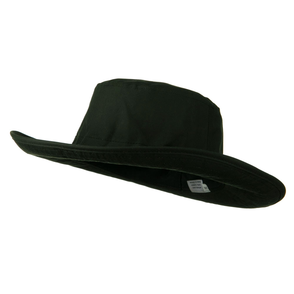Extra Size Waxed Canvas Western Hat - Olive