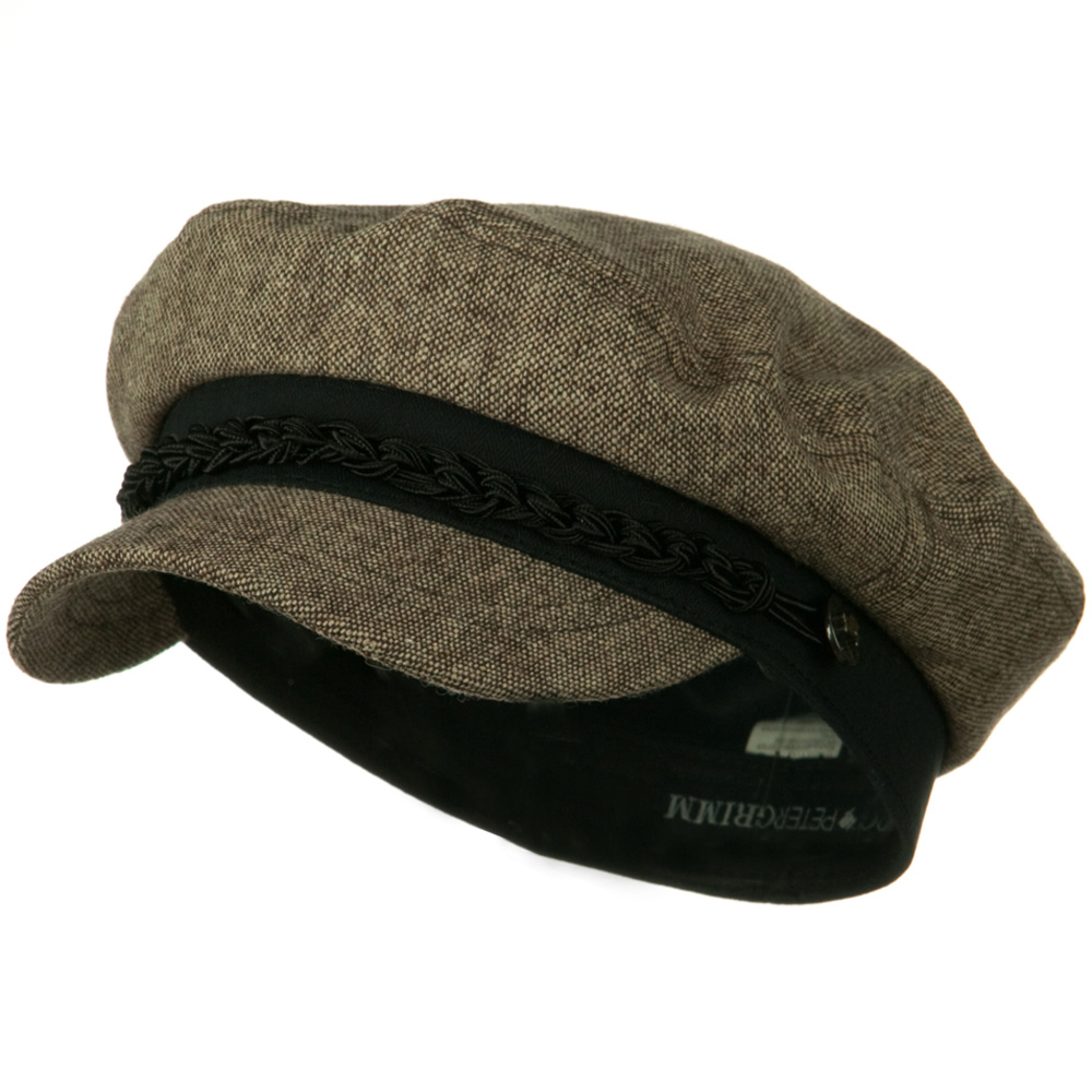 Elias Wool Blend Captain Hat - Brown - Hats and Caps Online Shop - Hip Head Gear