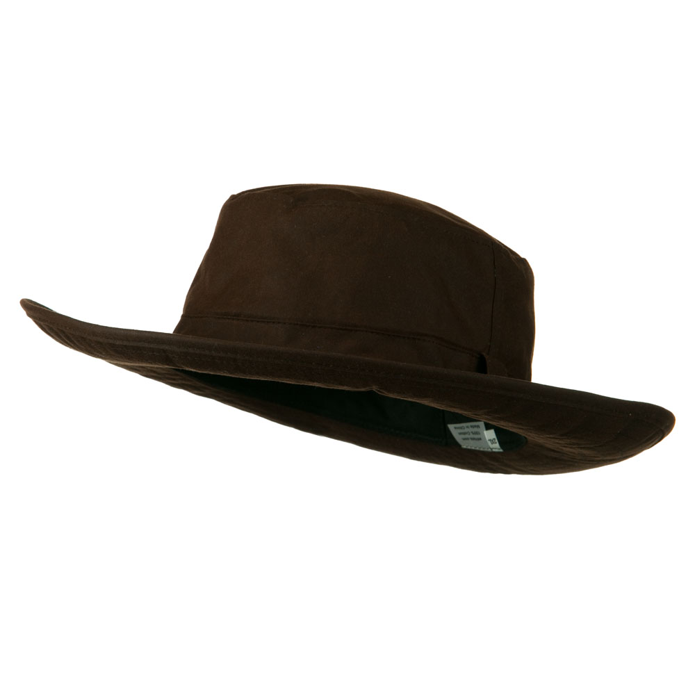 Extra Size Waxed Canvas Western Hat - Brown
