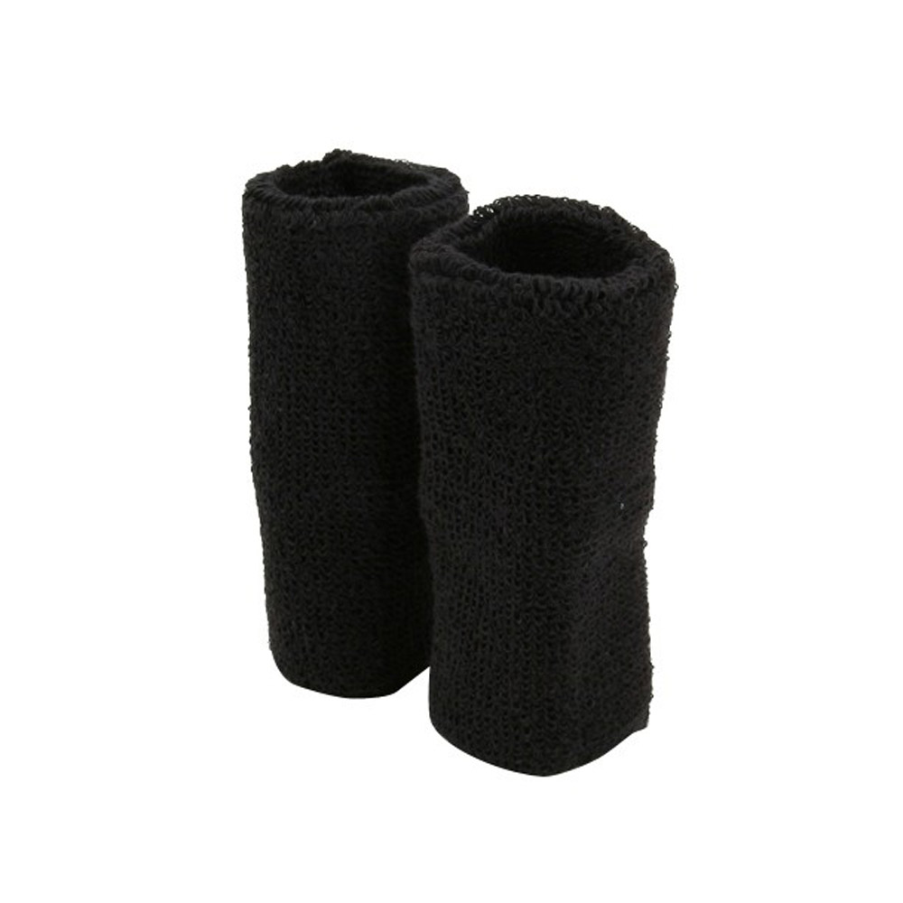 Extra Long Terry Wrist Band Pair - Black - Hats and Caps Online Shop - Hip Head Gear