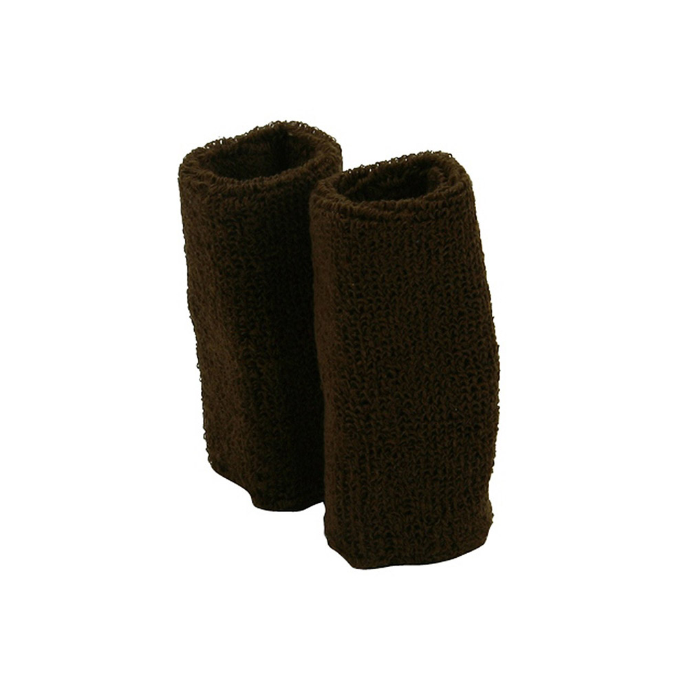 Extra Long Terry Wrist Band Pair- Brown - Hats and Caps Online Shop - Hip Head Gear