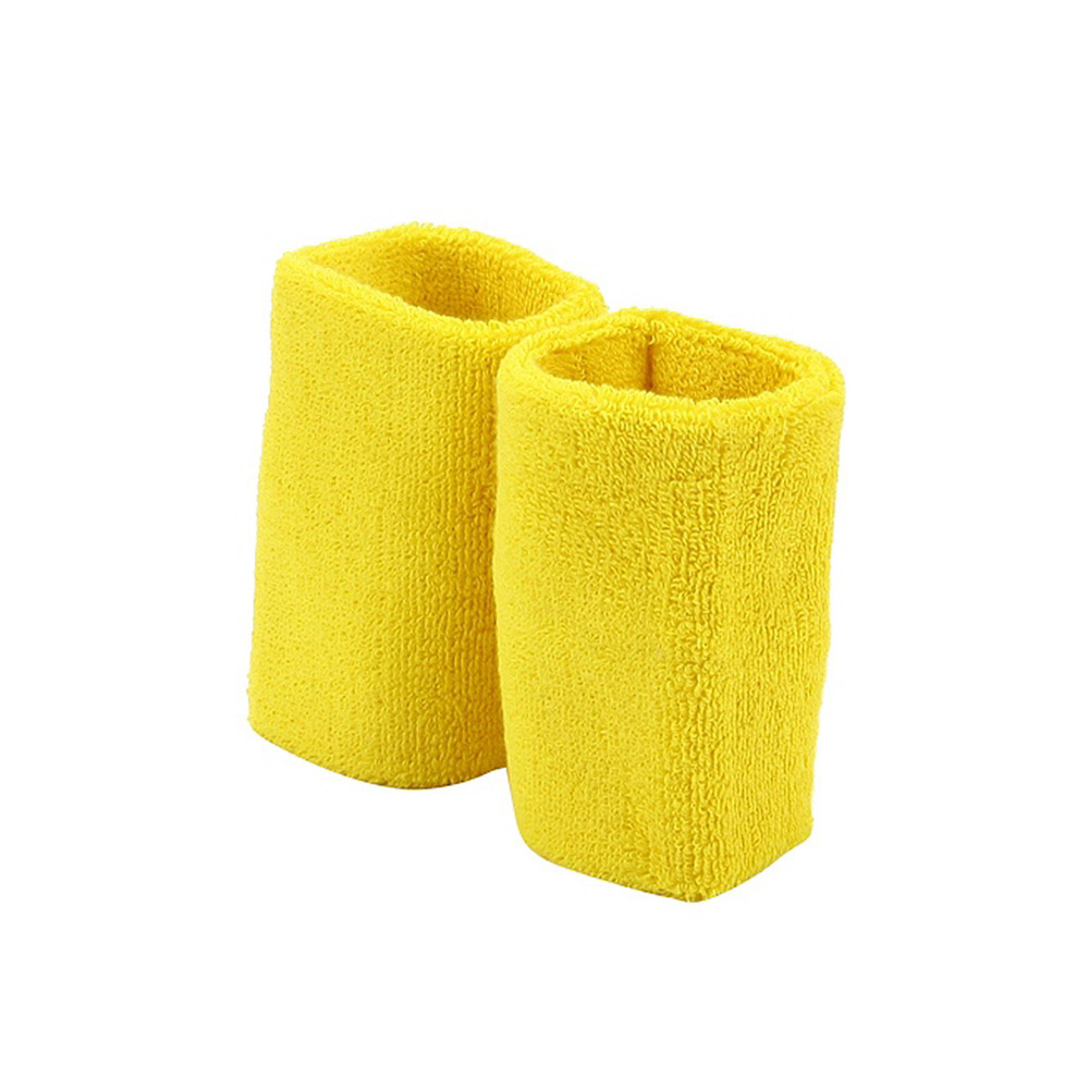 Extra Long Terry Wrist Band Pair- Yellow - Hats and Caps Online Shop - Hip Head Gear