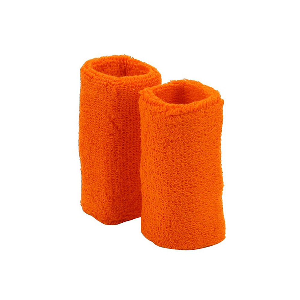 Extra Long Terry Wrist Band Pair- Orange - Hats and Caps Online Shop - Hip Head Gear