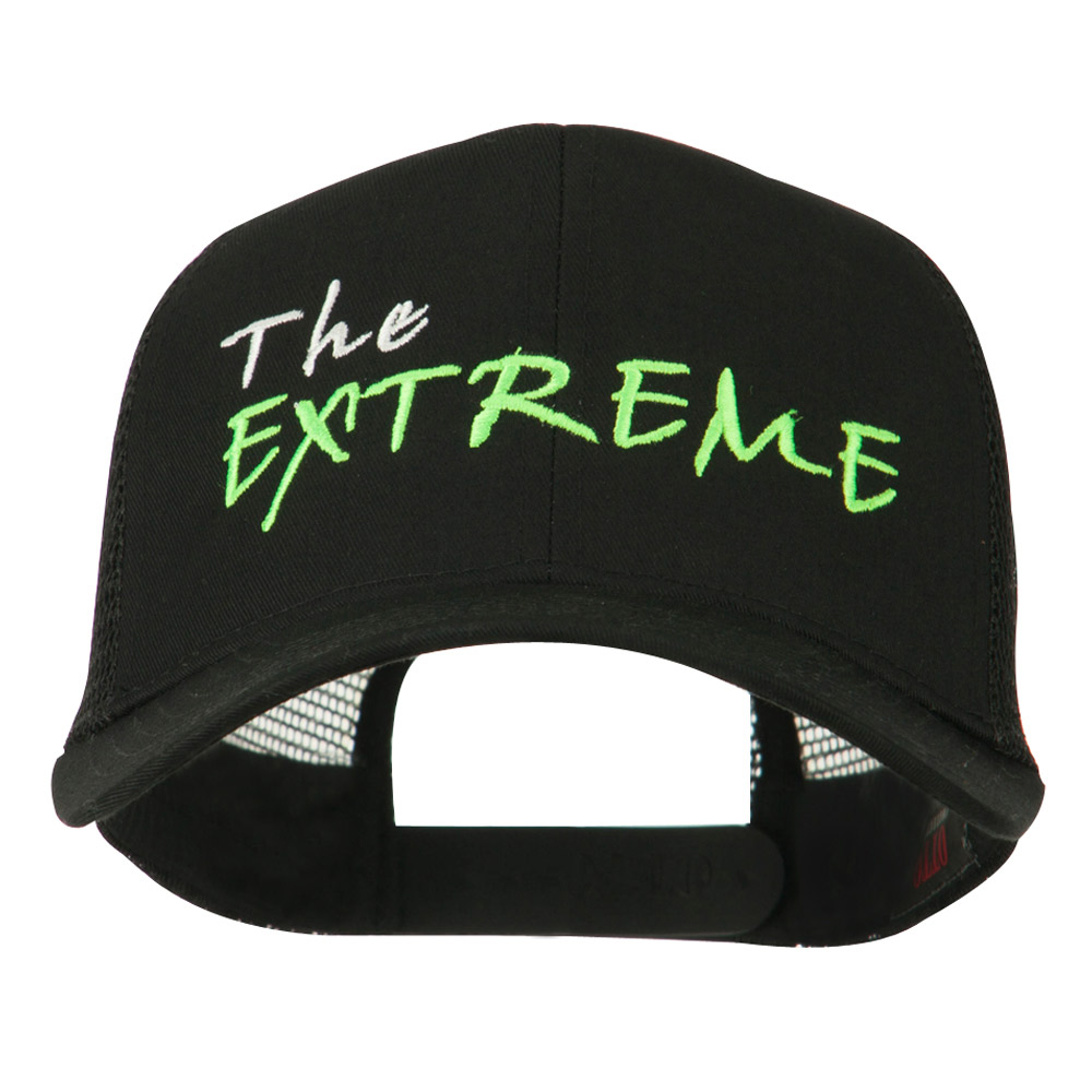 The Extreme Embroidered Trucker Cap - Black - Hats and Caps Online Shop - Hip Head Gear