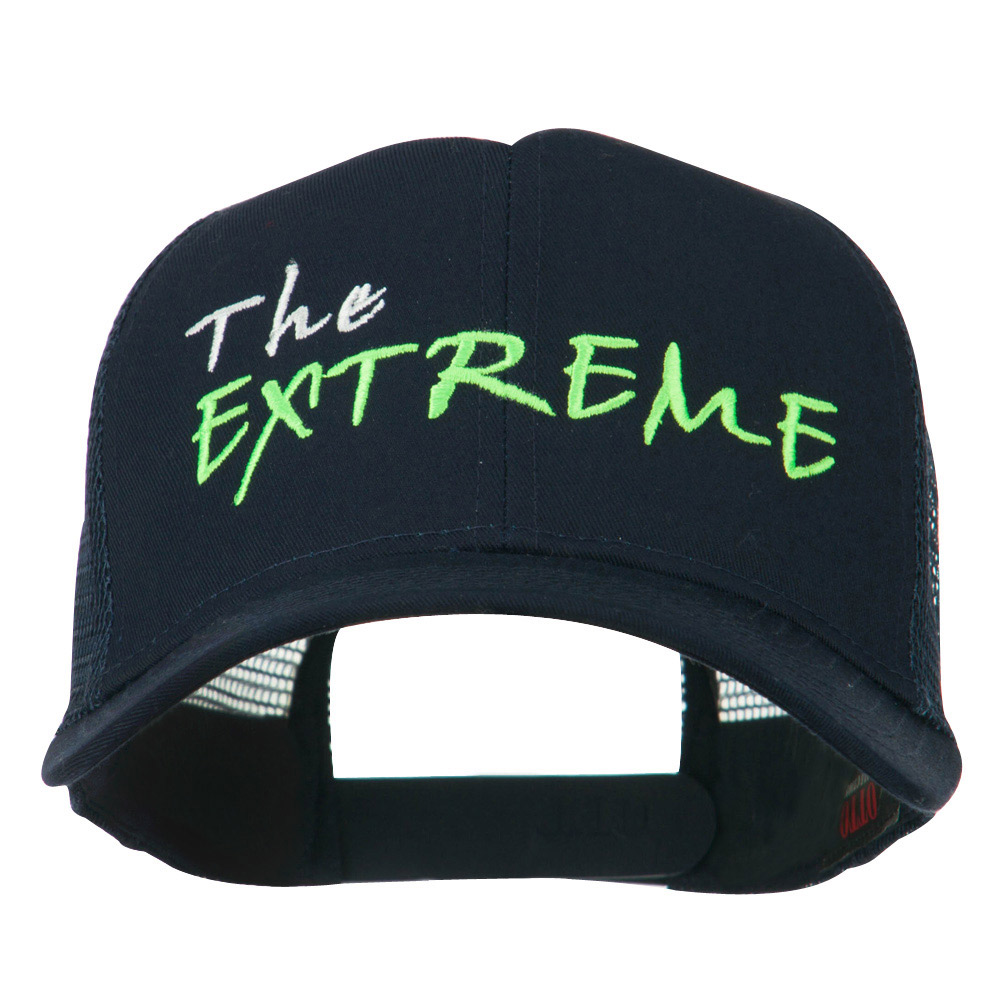 The Extreme Embroidered Trucker Cap - Navy - Hats and Caps Online Shop - Hip Head Gear