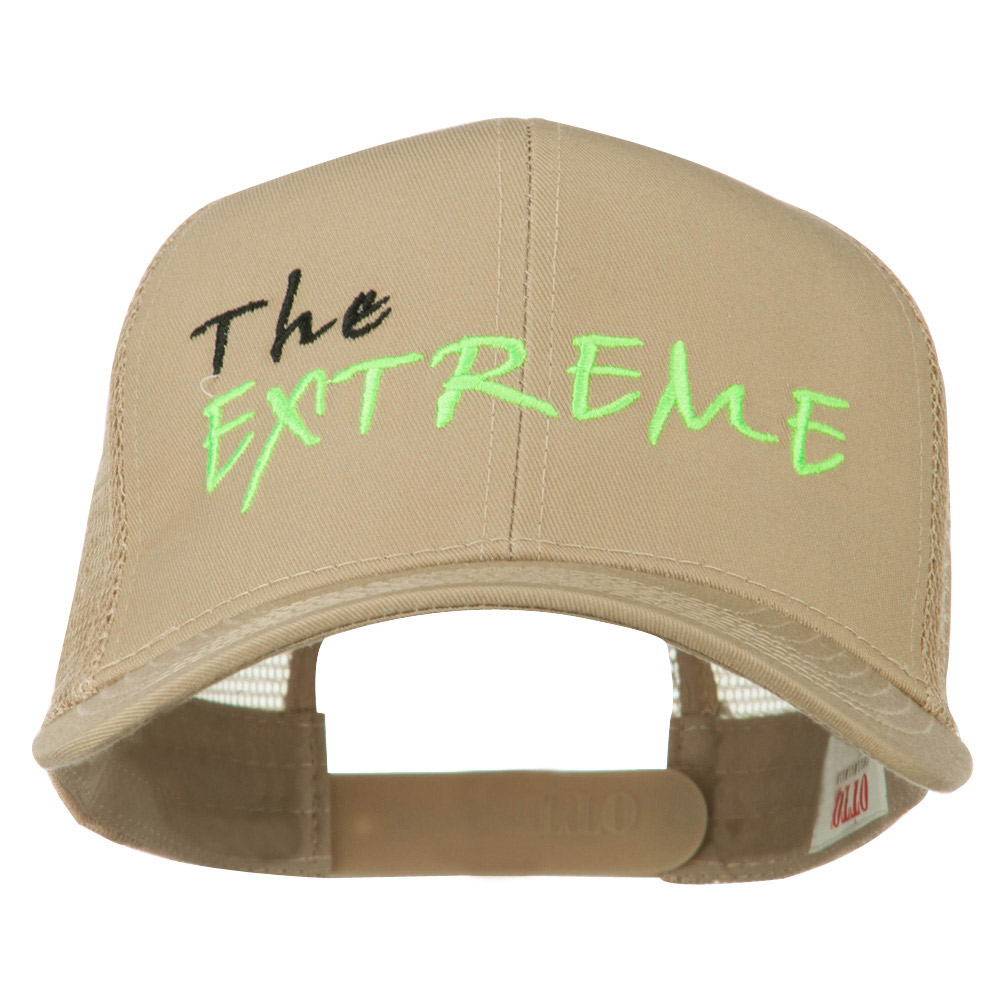 The Extreme Embroidered Trucker Cap - Khaki - Hats and Caps Online Shop - Hip Head Gear