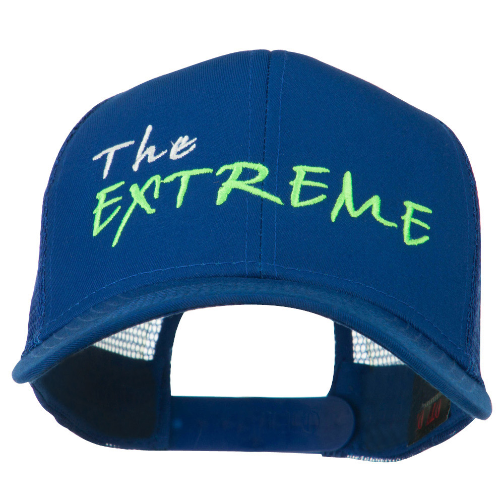 The Extreme Embroidered Trucker Cap - Royal - Hats and Caps Online Shop - Hip Head Gear