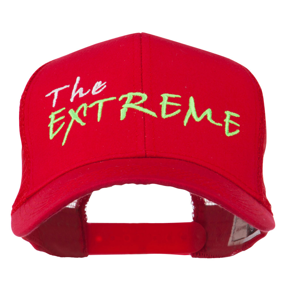 The Extreme Embroidered Trucker Cap - Red - Hats and Caps Online Shop - Hip Head Gear