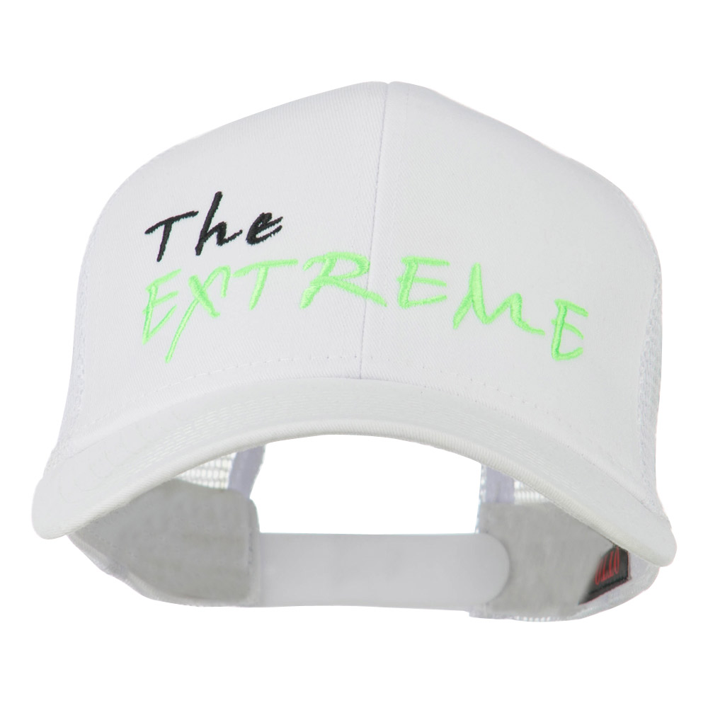 The Extreme Embroidered Trucker Cap - White - Hats and Caps Online Shop - Hip Head Gear