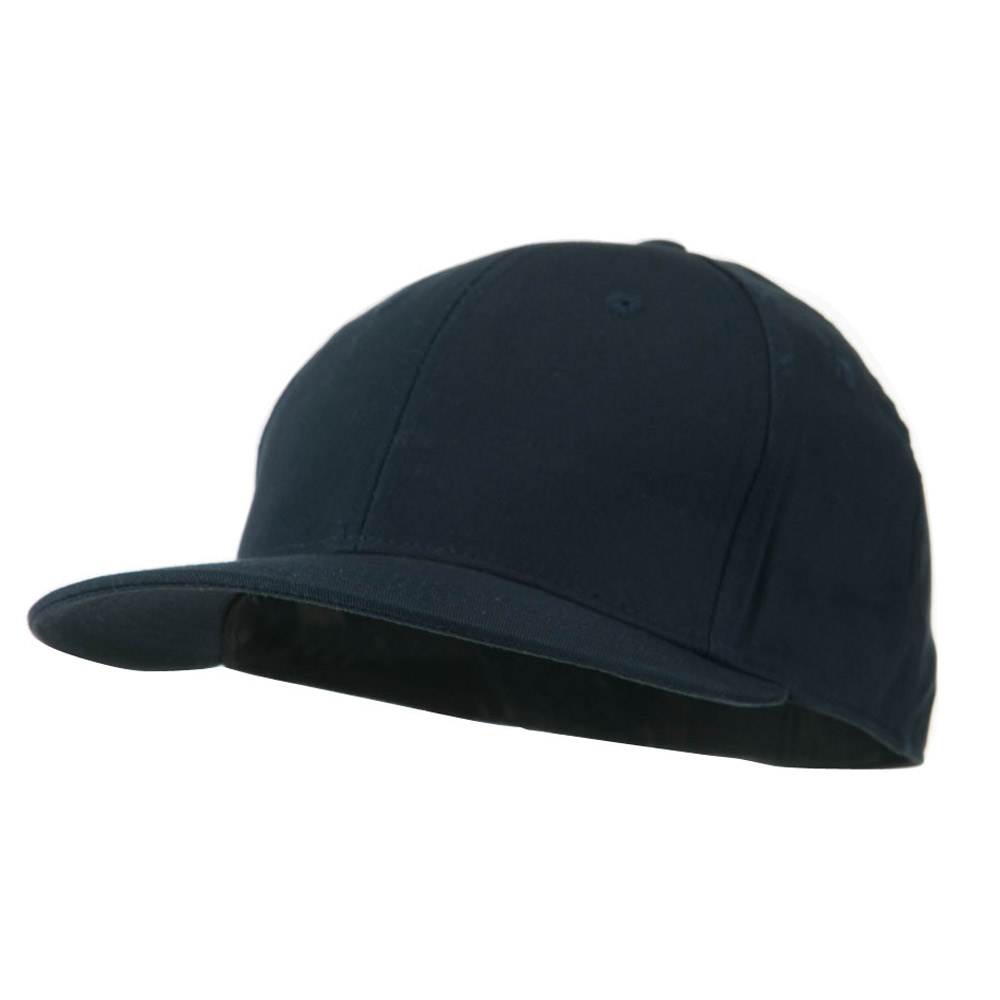 Flat Bill 6 Panel Fitted Cap-Navy - Hats and Caps Online Shop - Hip Head Gear