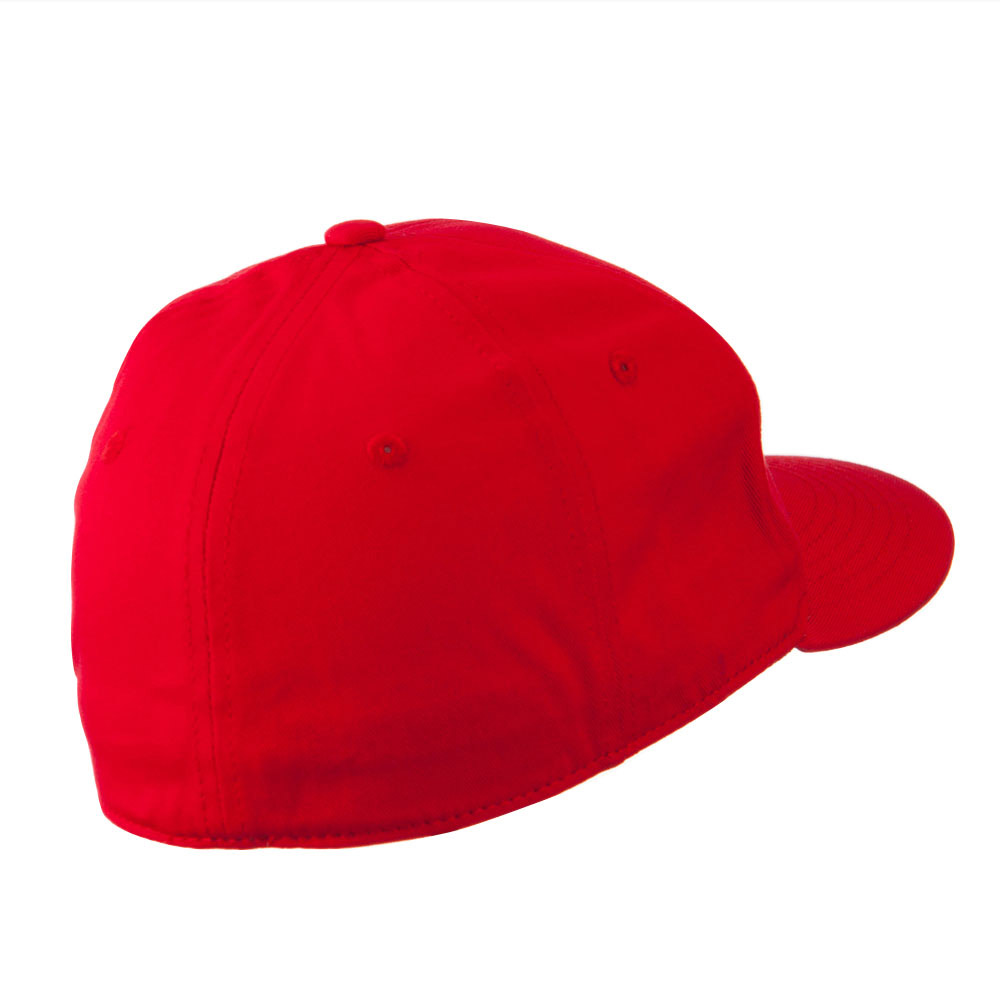 Flat Bill 6 Panel Fitted Cap-Red - Hats and Caps Online Shop - Hip Head Gear