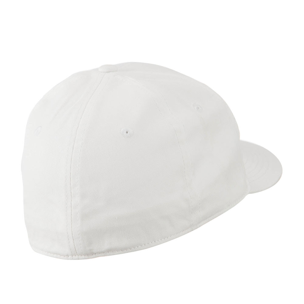 Flat Bill 6 Panel Fitted Cap-White - Hats and Caps Online Shop - Hip Head Gear
