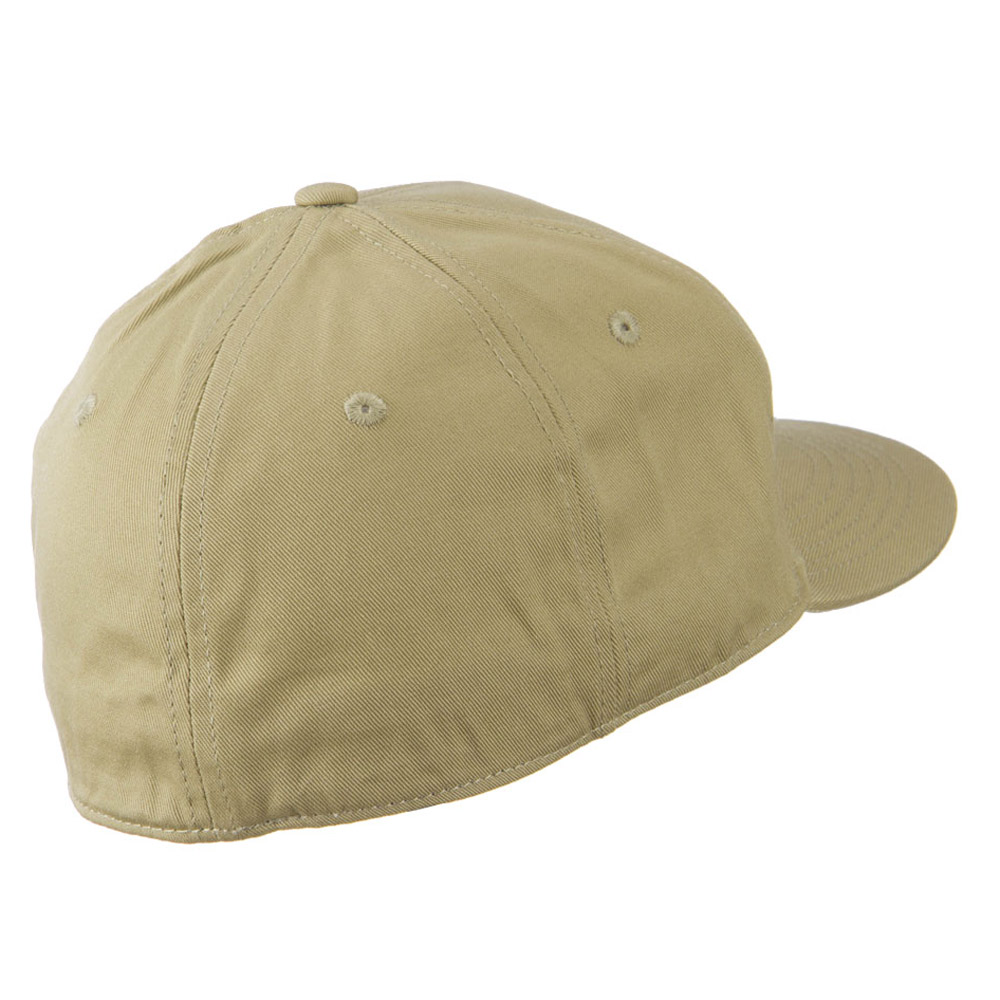 Flat Bill 6 Panel Fitted Cap-Khaki - Hats and Caps Online Shop - Hip Head Gear