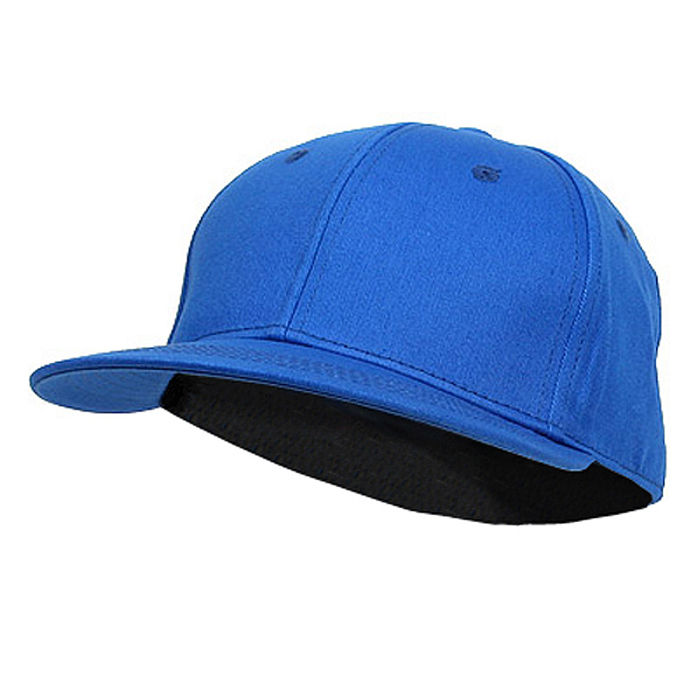 Flat Bill 6 Panel Fitted Cap-Royal - Hats and Caps Online Shop - Hip Head Gear