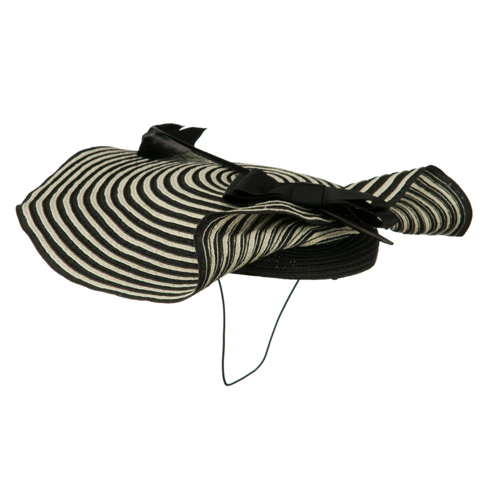 Feather Arrow Cocktail Fascinator - Black White - Hats and Caps Online Shop - Hip Head Gear