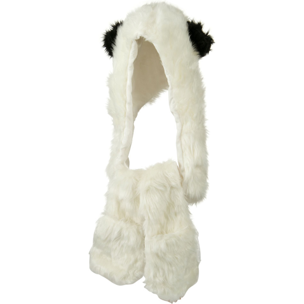 Furry Animal Hat with Paws - Panda - Hats and Caps Online Shop - Hip Head Gear