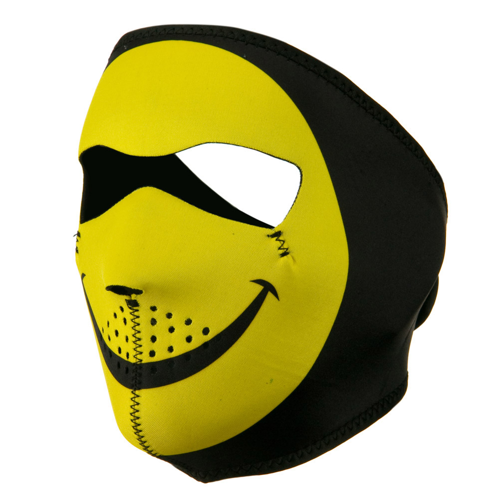 Neoprene Full Face Mask - Smiley Face - Hats and Caps Online Shop - Hip Head Gear