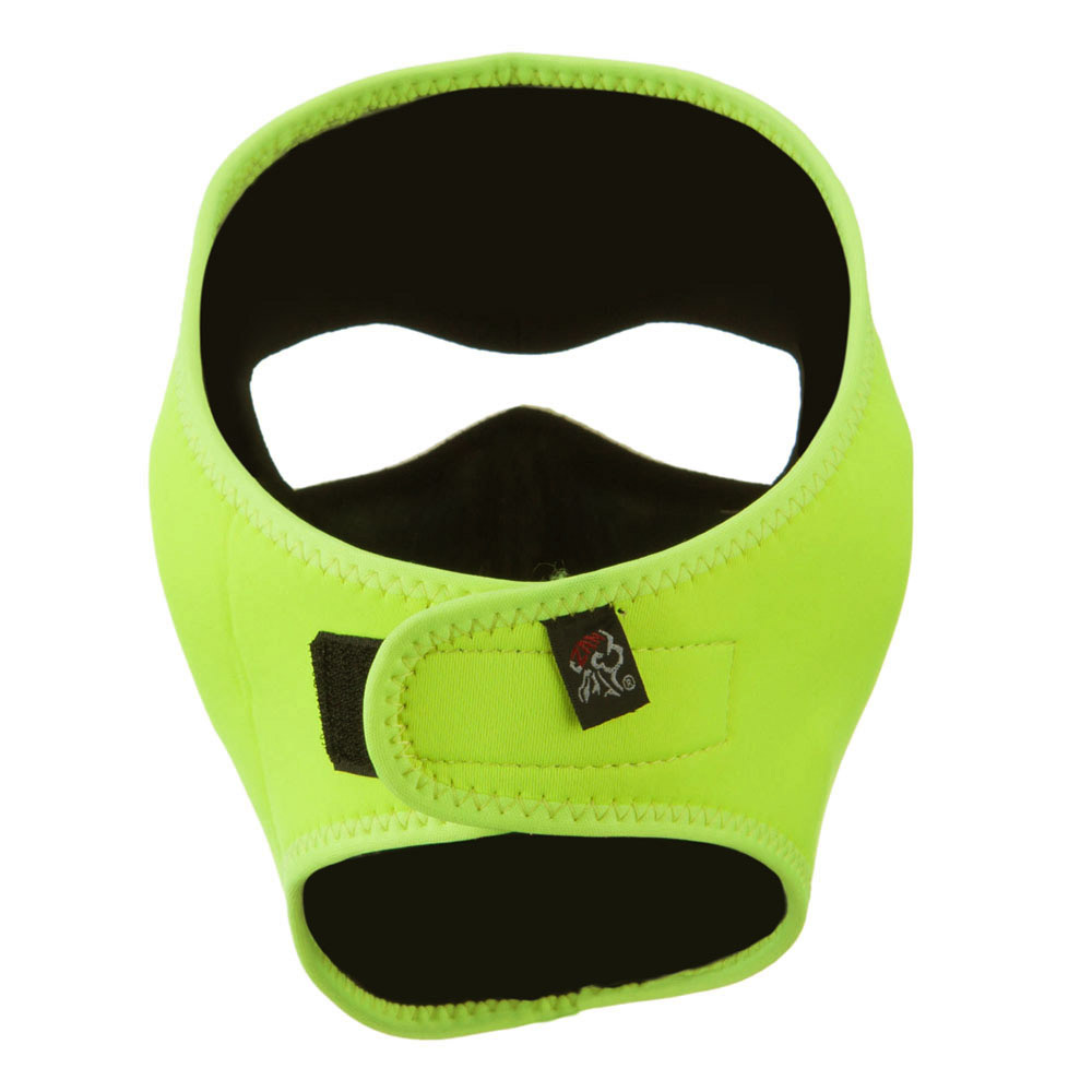 Neoprene Full Face Mask - High Visibility Neon Yellow - Hats and Caps Online Shop - Hip Head Gear