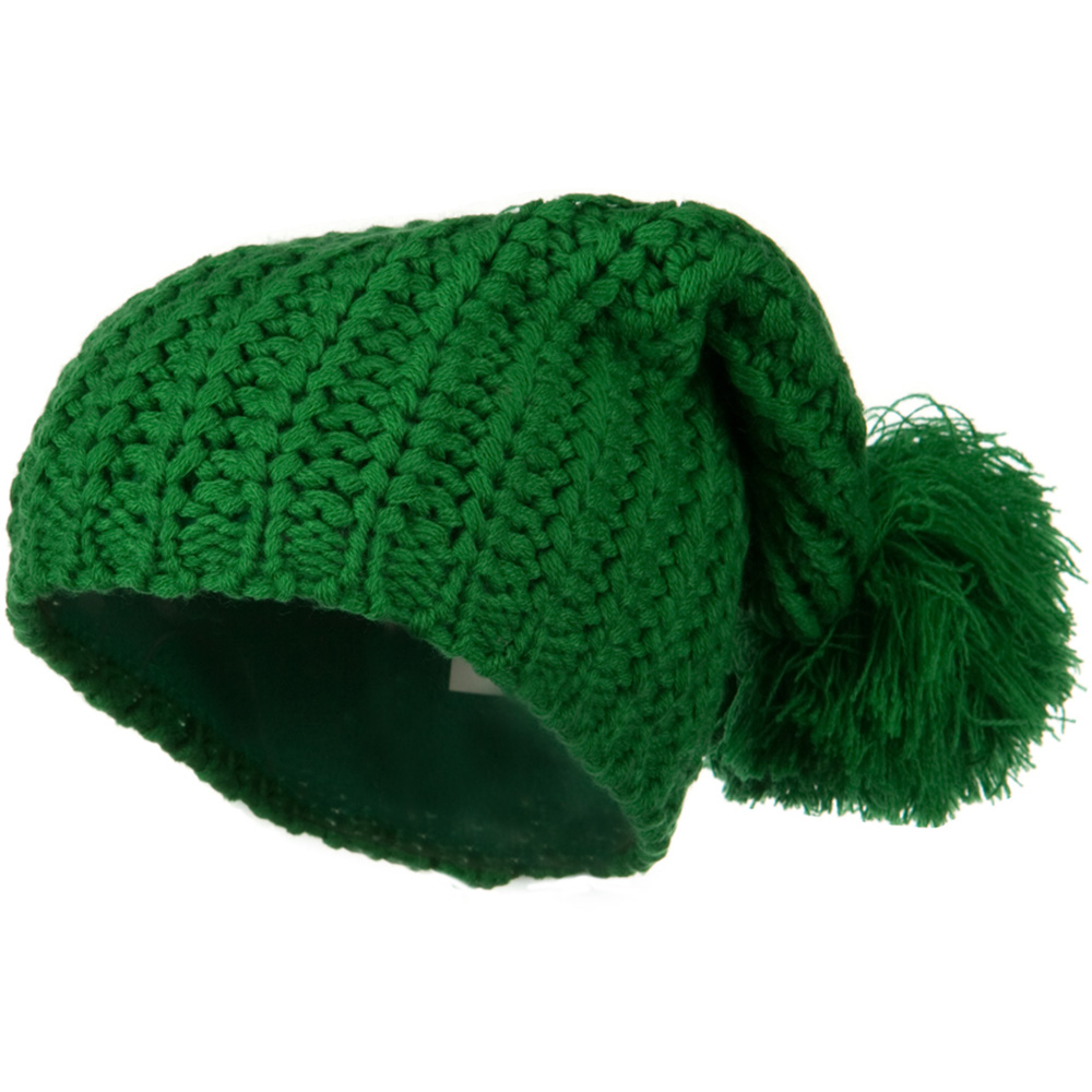 Fall Back Pom Pom Knit Hat - Green - Hats and Caps Online Shop - Hip Head Gear