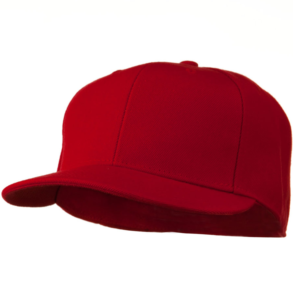 Flat Bill Fitted Cap - Red - Hats and Caps Online Shop - Hip Head Gear