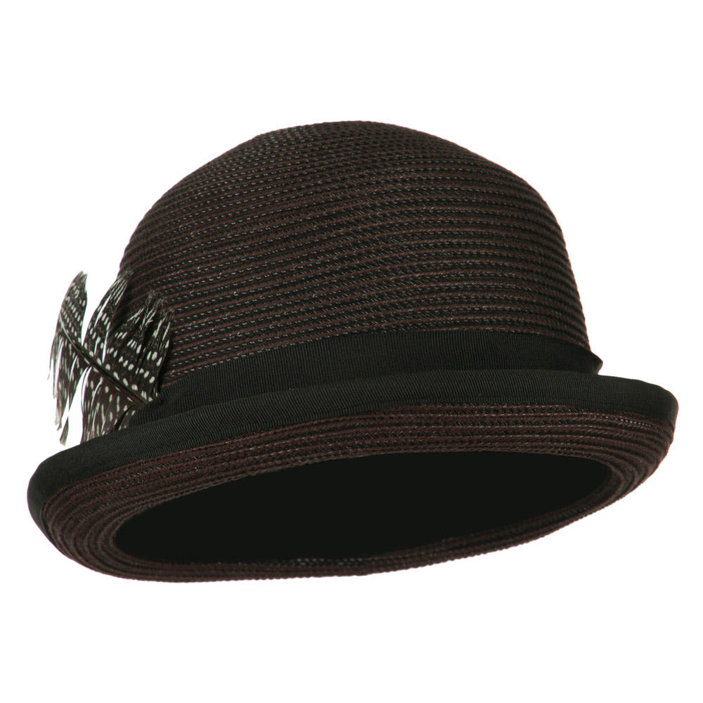 Women's Feather Bowler Fedora - Black Brown - Hats and Caps Online Shop - Hip Head Gear