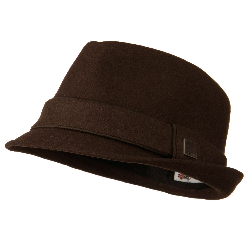 Fedora Hat with Solid Band - Brown - Hats and Caps Online Shop - Hip Head Gear