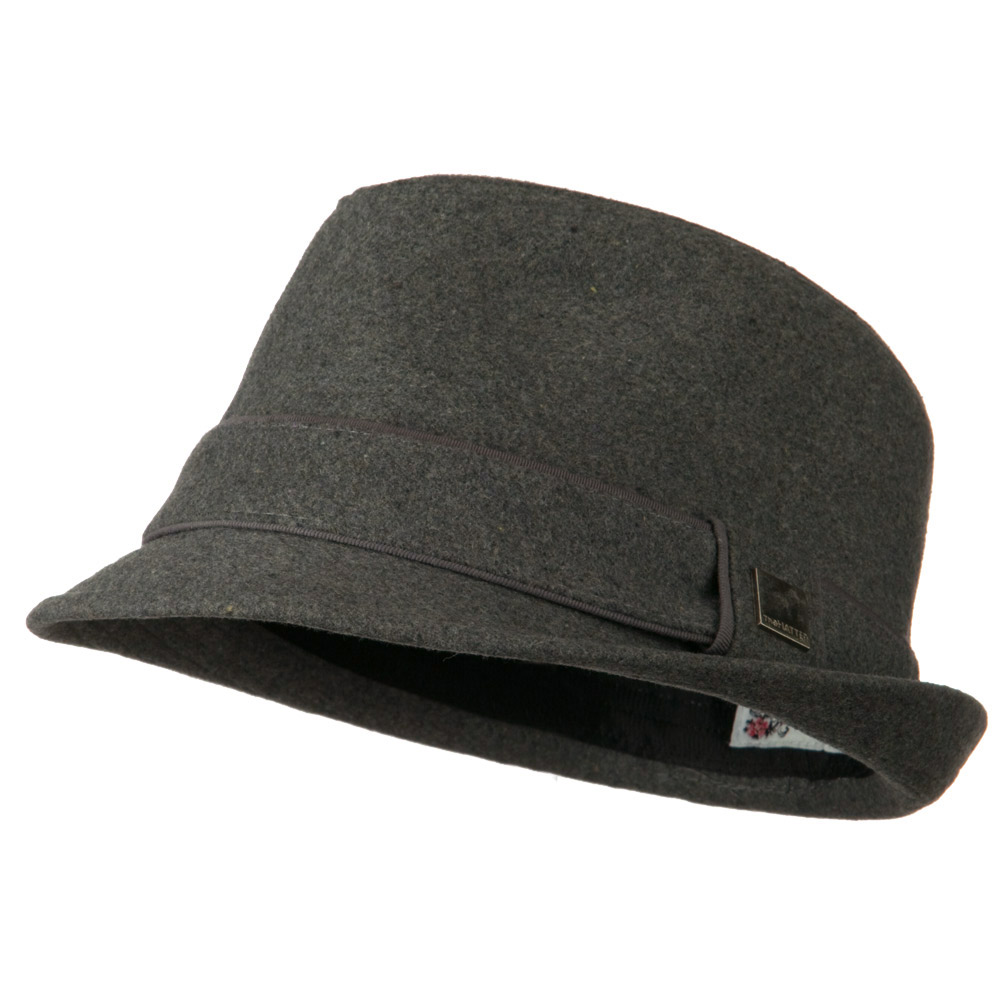 Fedora Hat with Solid Band - Grey - Hats and Caps Online Shop - Hip Head Gear