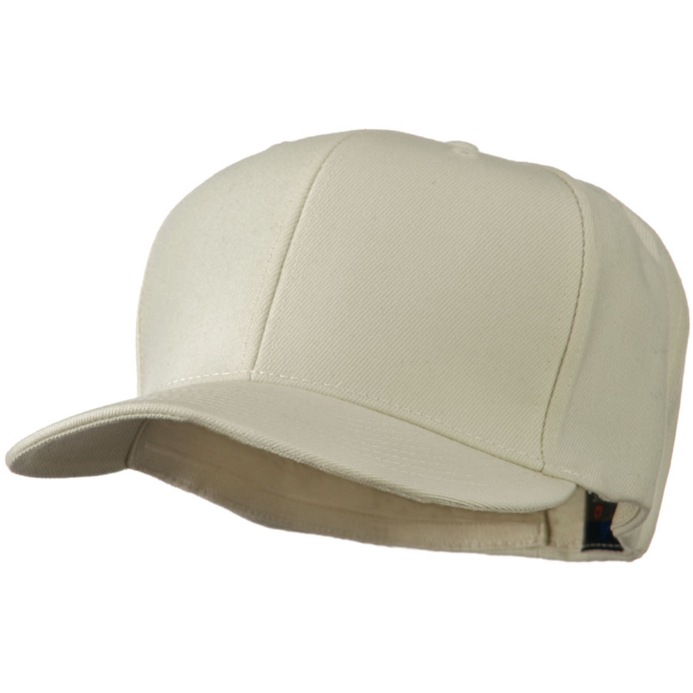 Flat Bill Fitted Cap - Natural - Hats and Caps Online Shop - Hip Head Gear