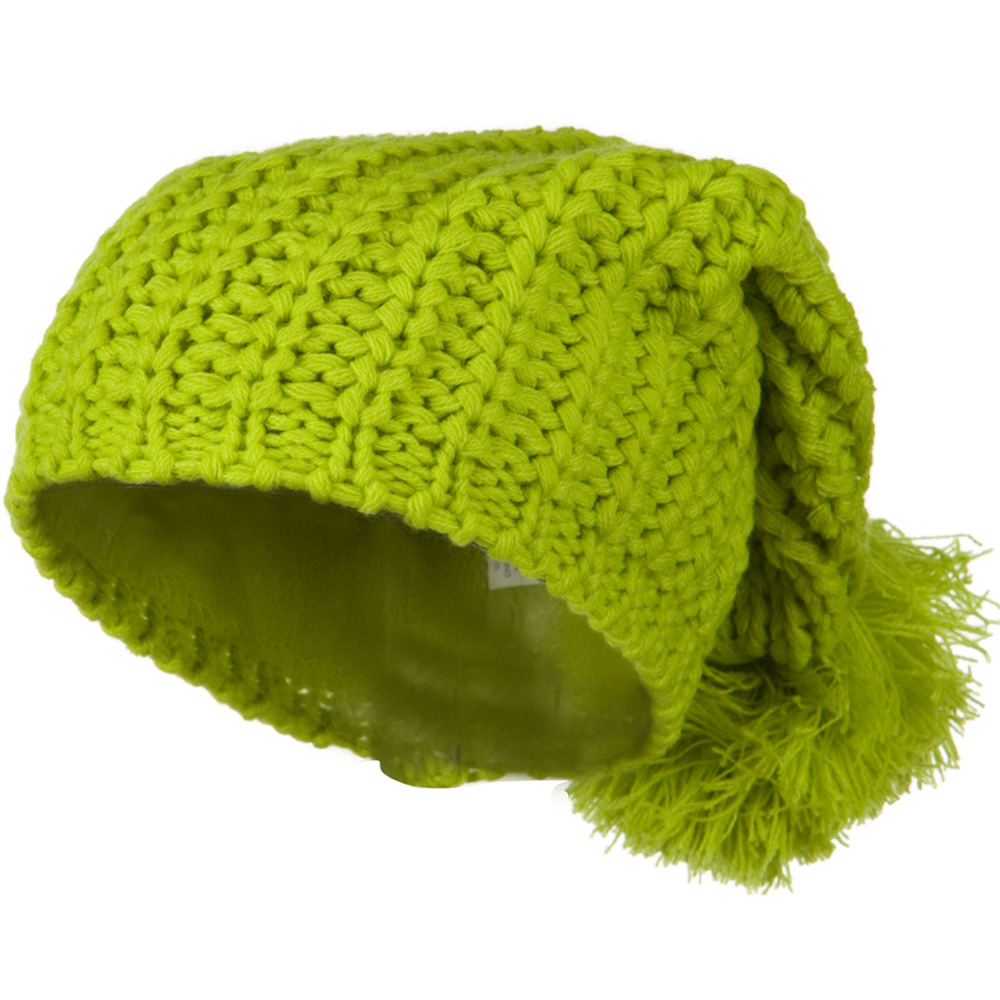 Fall Back Pom Pom Knit Hat - Lime - Hats and Caps Online Shop - Hip Head Gear