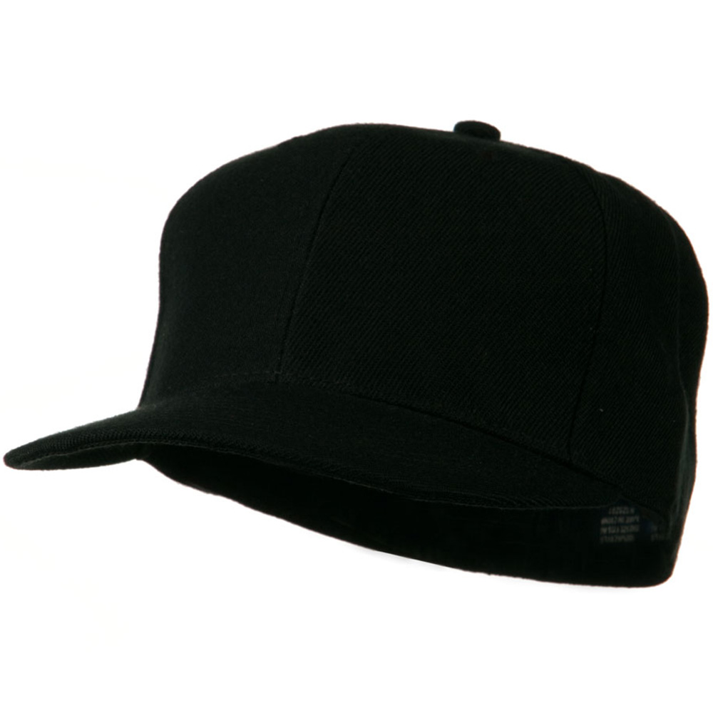 Flat Bill Fitted Cap - Black - Hats and Caps Online Shop - Hip Head Gear