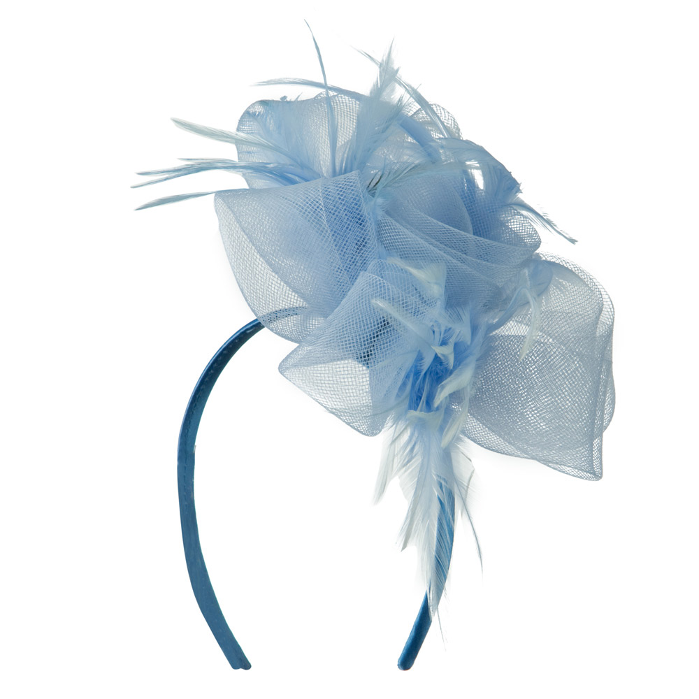 Fashionable Feather Accent Headband - Light Blue - Hats and Caps Online Shop - Hip Head Gear