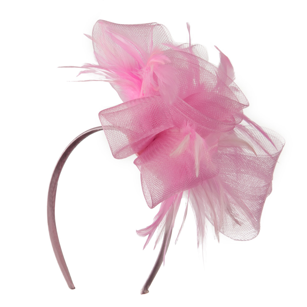 Fashionable Feather Accent Headband - Pink - Hats and Caps Online Shop - Hip Head Gear