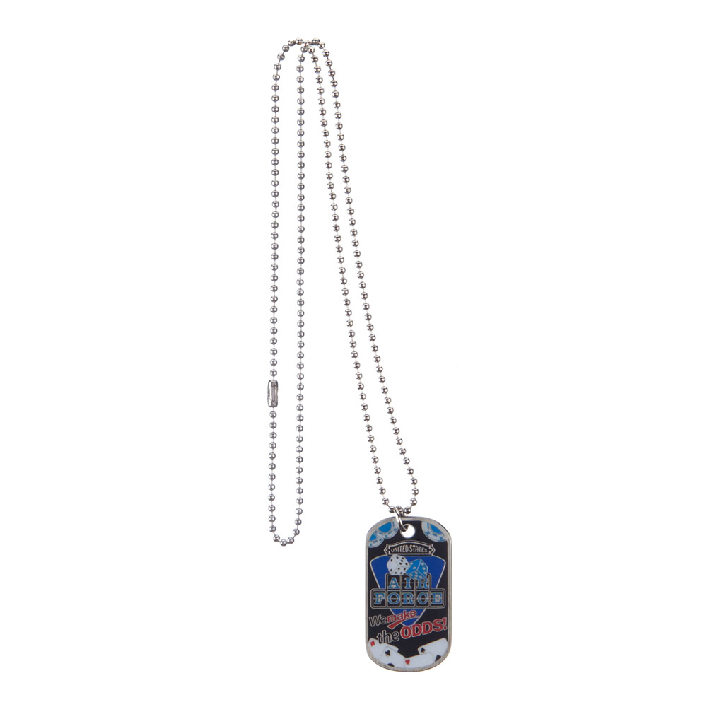 Air Force Dog Tag - Silver Casino
