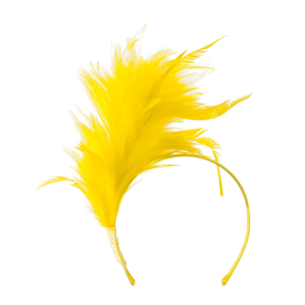 Fancy Feather Fascinator - Gold - Hats and Caps Online Shop - Hip Head Gear