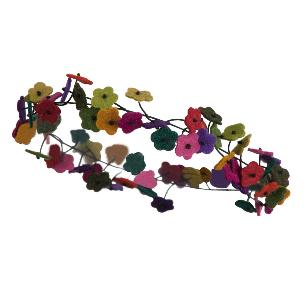 Flower Chain Elastic Headband - Multi - Hats and Caps Online Shop - Hip Head Gear