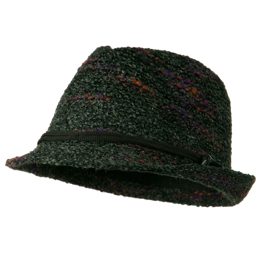 Woman's Fleck Fedora - Charcoal - Hats and Caps Online Shop - Hip Head Gear