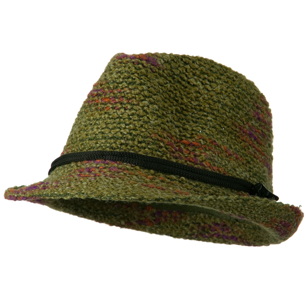 Woman's Fleck Fedora - Olive - Hats and Caps Online Shop - Hip Head Gear