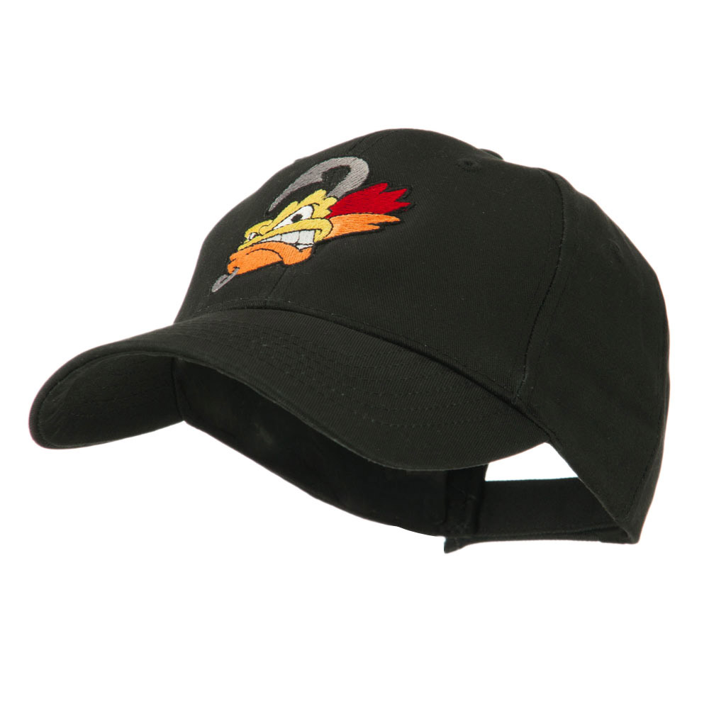 Fishing Fly Face Embroidered Cap - Black - Hats and Caps Online Shop - Hip Head Gear