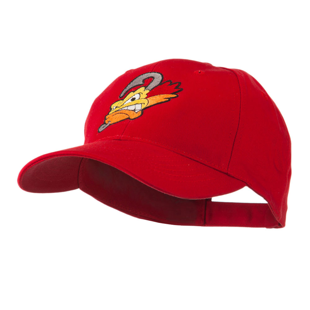 Fishing Fly Face Embroidered Cap - Red - Hats and Caps Online Shop - Hip Head Gear