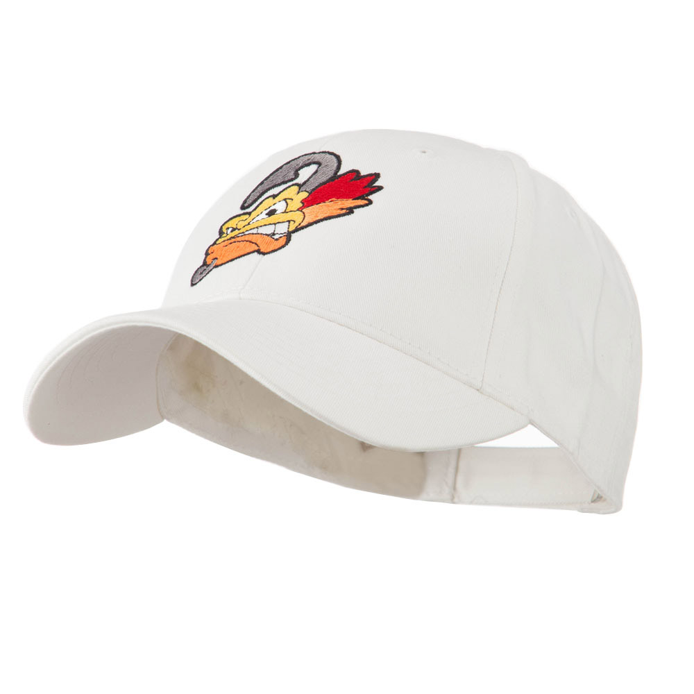 Fishing Fly Face Embroidered Cap - White - Hats and Caps Online Shop - Hip Head Gear