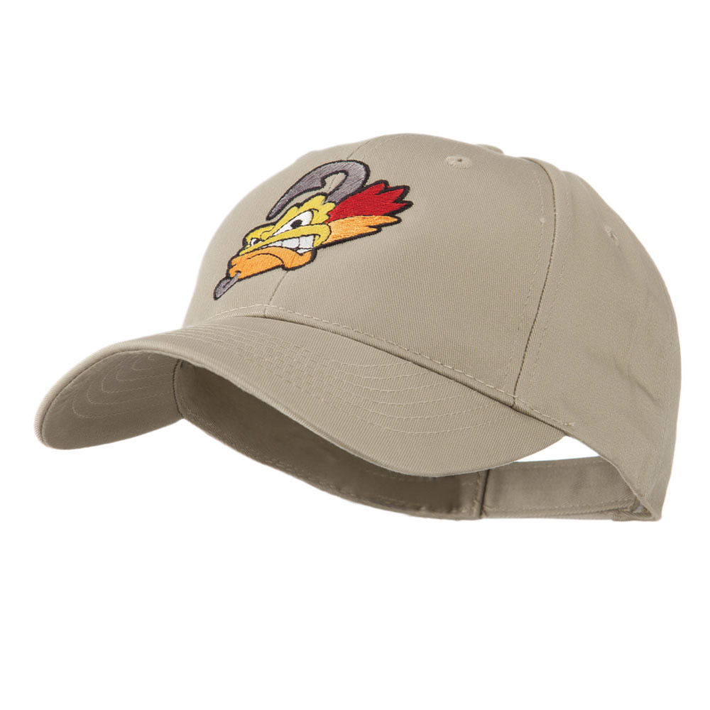 Fishing Fly Face Embroidered Cap - Khaki - Hats and Caps Online Shop - Hip Head Gear