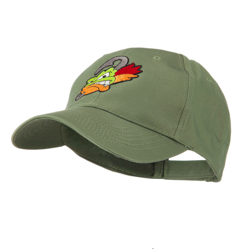 Fishing Fly Face Embroidered Cap - Olive - Hats and Caps Online Shop - Hip Head Gear