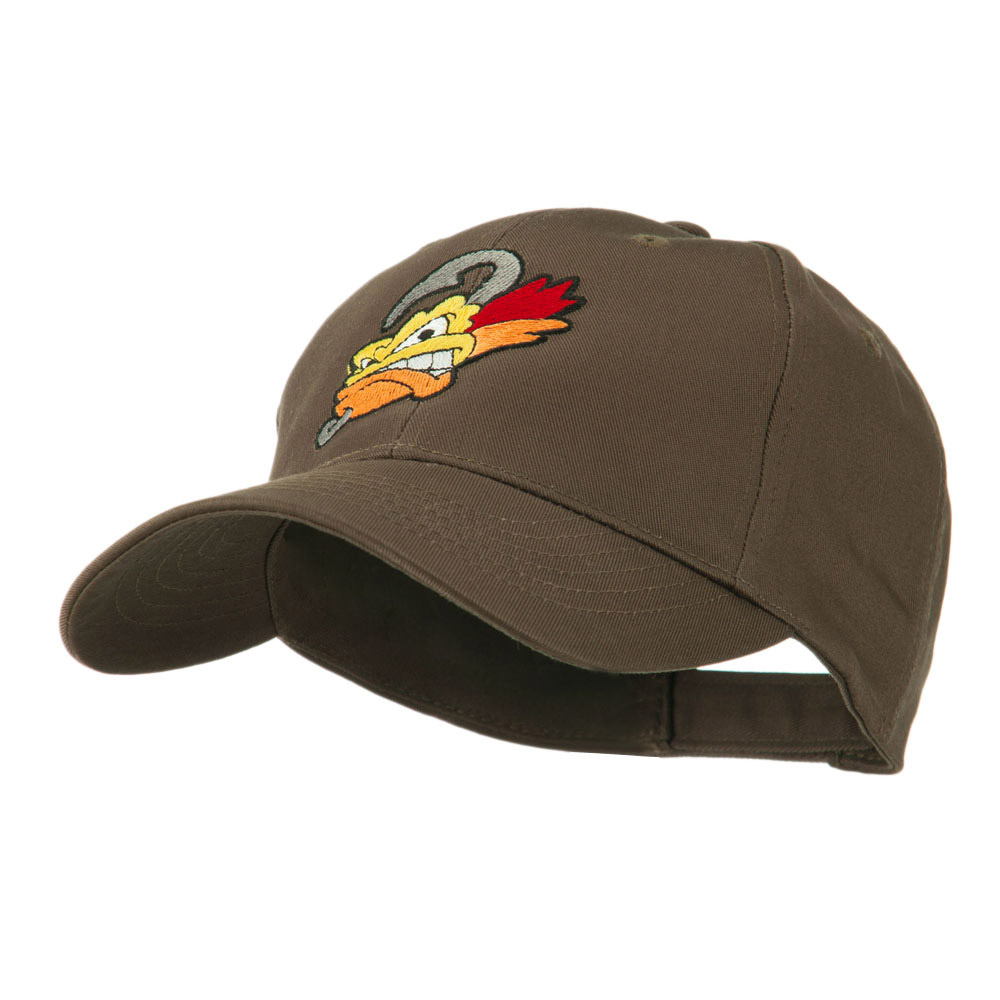 Fishing Fly Face Embroidered Cap - Brown - Hats and Caps Online Shop - Hip Head Gear
